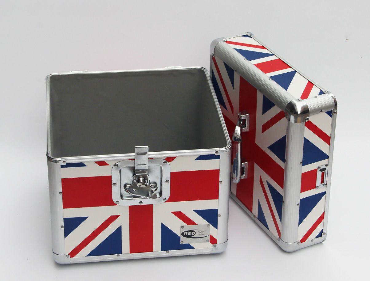 Zilla Neo Lp 100 Union Jack Britain Flight Case Holds 12